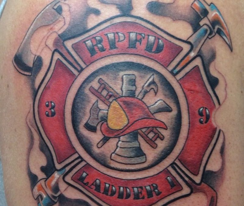 Firefighter logo tattoo design