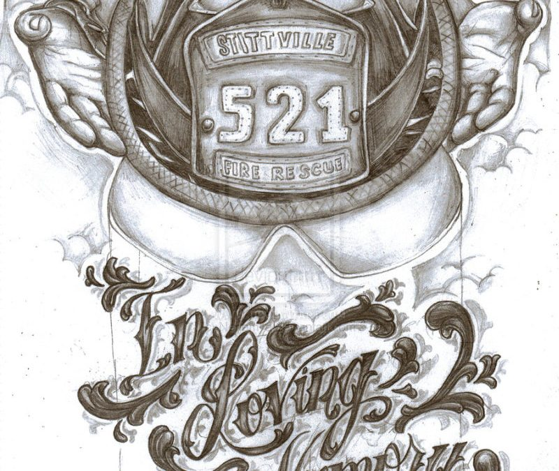 Firefighter memorial tattoo design