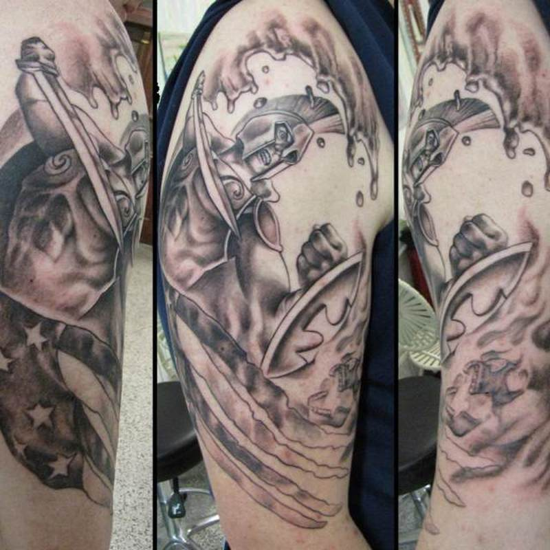 Firefighter sleeve design tattoo
