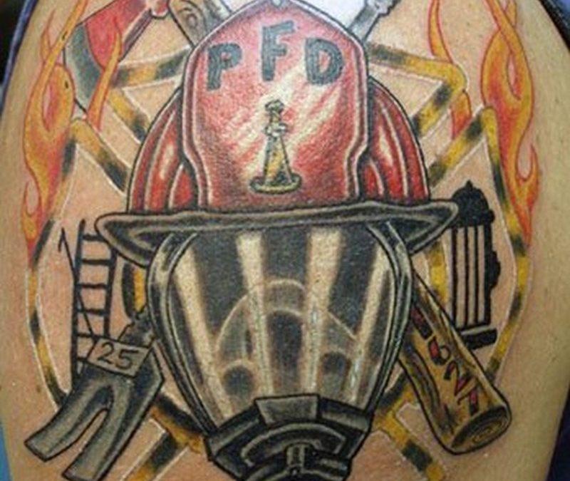 Firefighter tattoo for shoulder