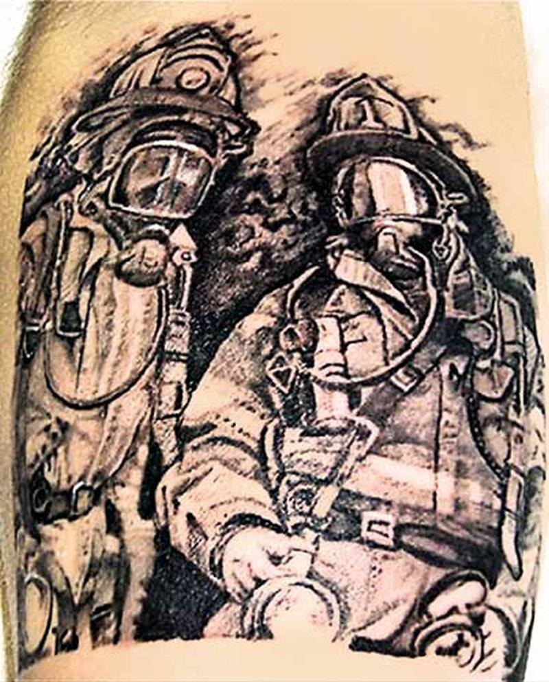 Firefighter tattoo picture