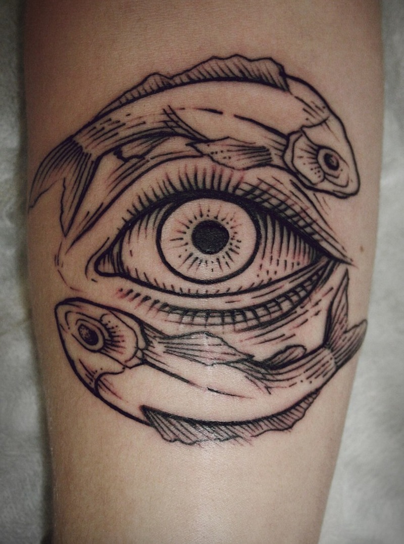 Fish art n eye tattoo design tattoos book for Eye tattoo art