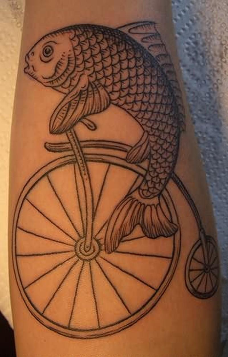 Fish cycle tattoo