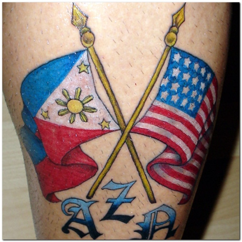 Flag tattoo designs pictures