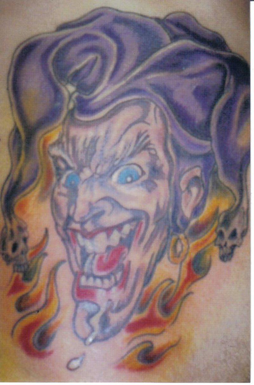 flaky joker clown tattoo design tattoos book tattoos designs. Black Bedroom Furniture Sets. Home Design Ideas