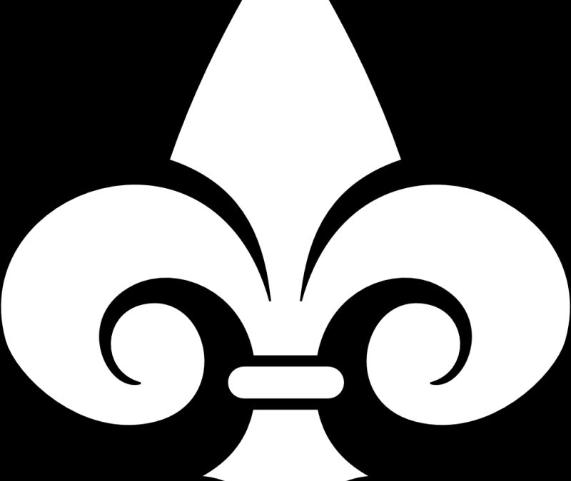 Fleur de lis black white line art tattoo sample