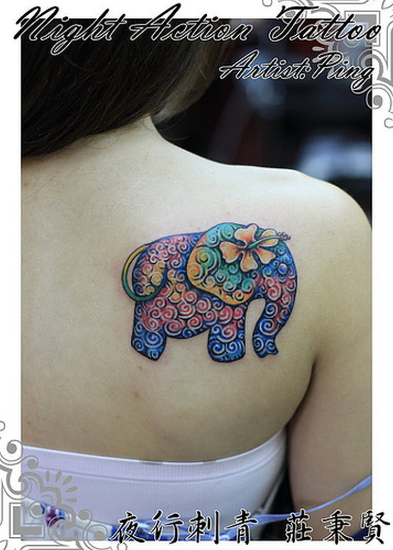 4a06632f5df24 Floral elephant tattoo design - Tattoos Book - 65.000 Tattoos Designs