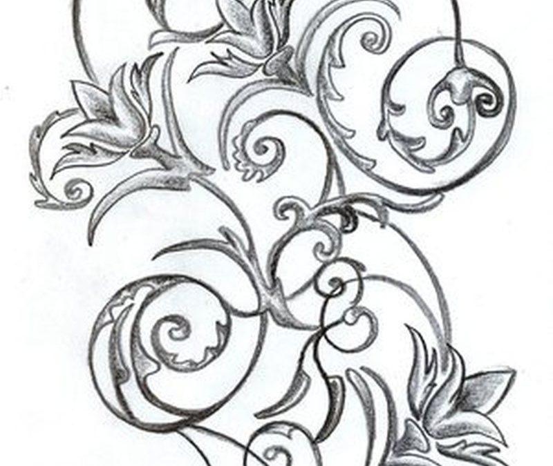 Floral tattoo sample 3