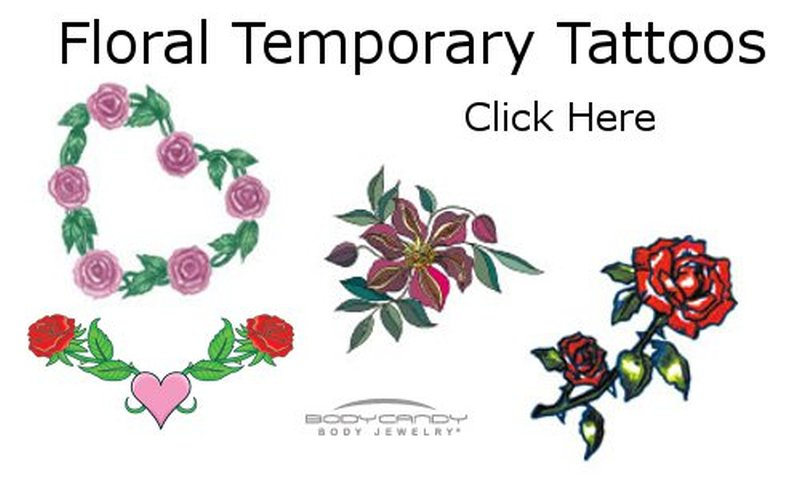 Floral temporary tattoo designs