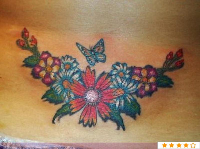 4cf4f926f Flower daisy n butterfly tattoo design - Tattoos Book - 65.000 ...