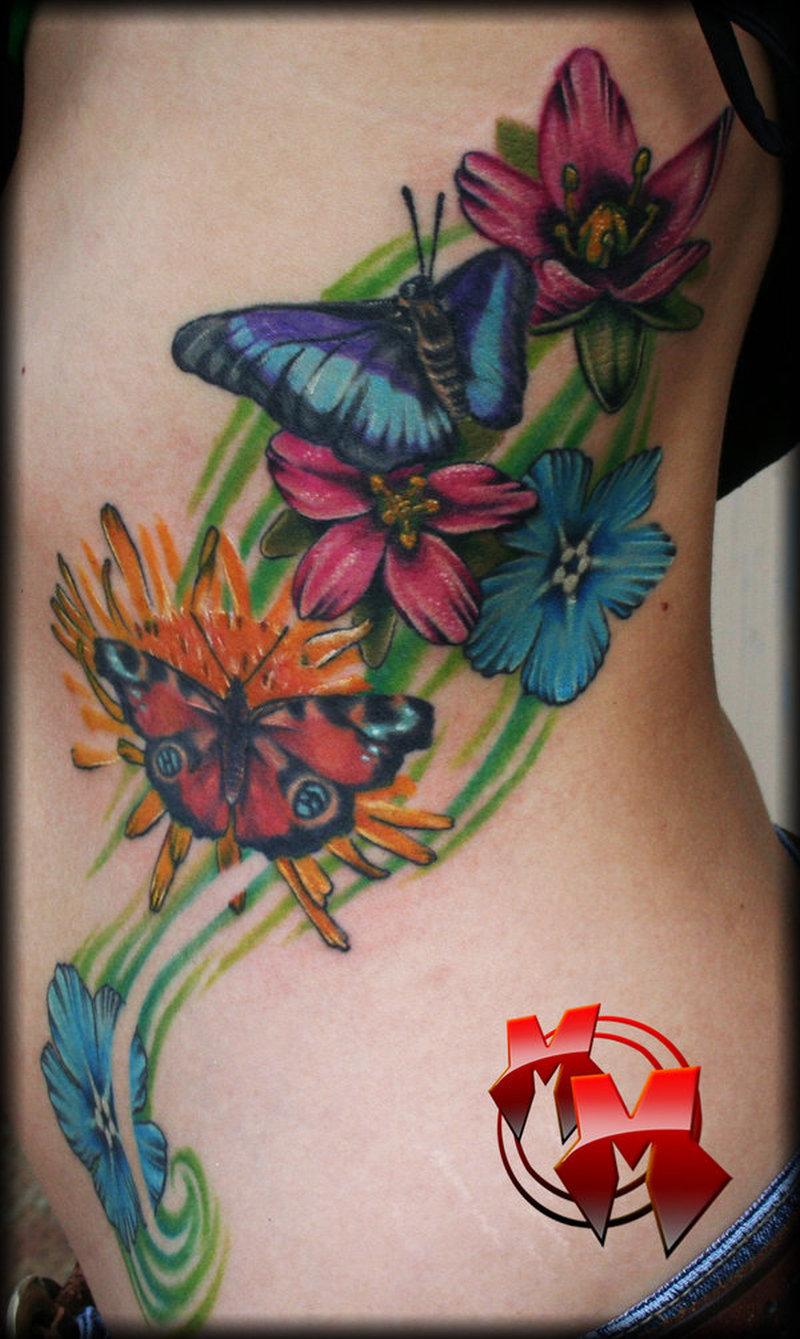 b943b4767 Flowers butterflies tattoo image - Tattoos Book - 65.000 Tattoos Designs