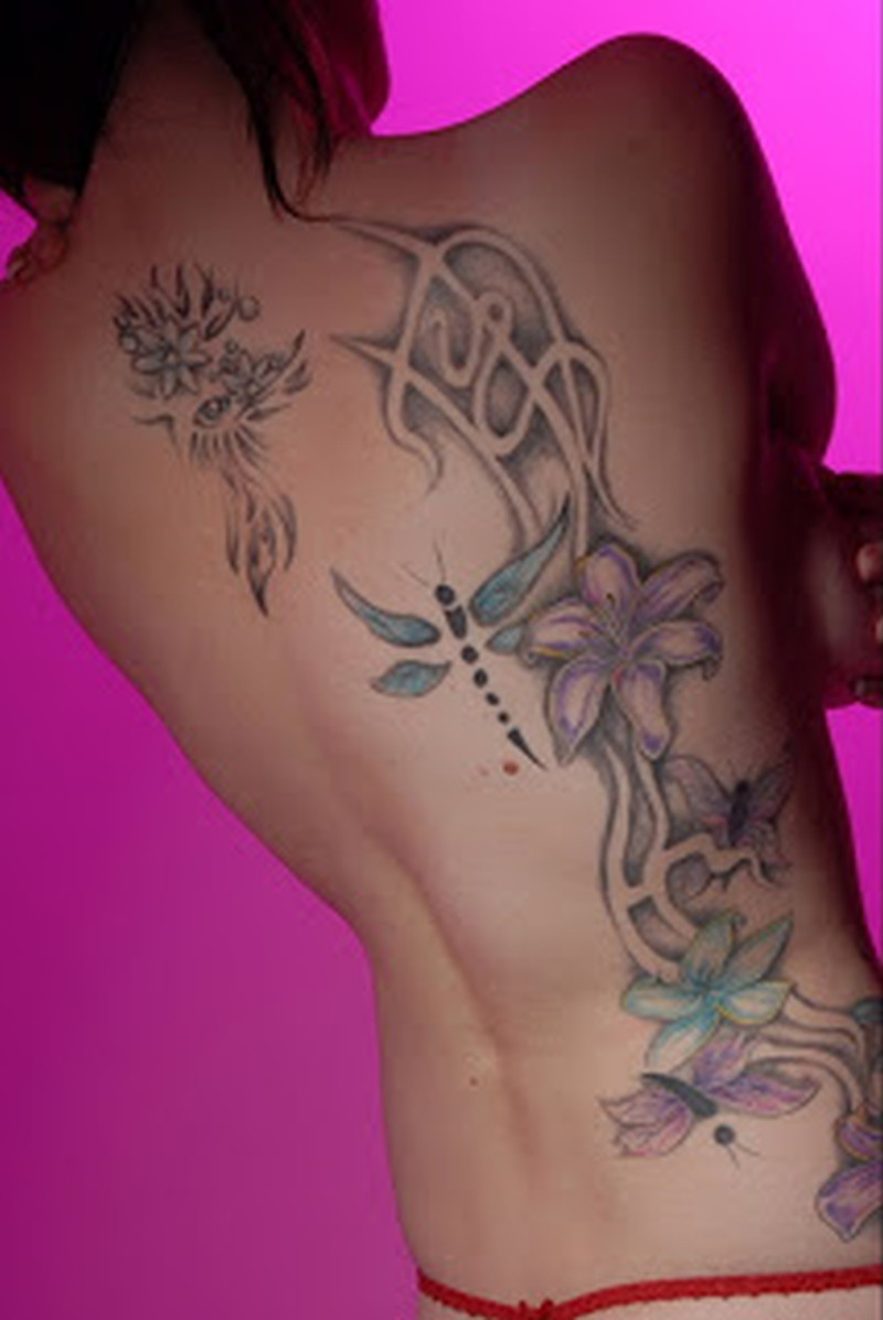 flowers tattoo on back body for girls tattoos book tattoos designs. Black Bedroom Furniture Sets. Home Design Ideas