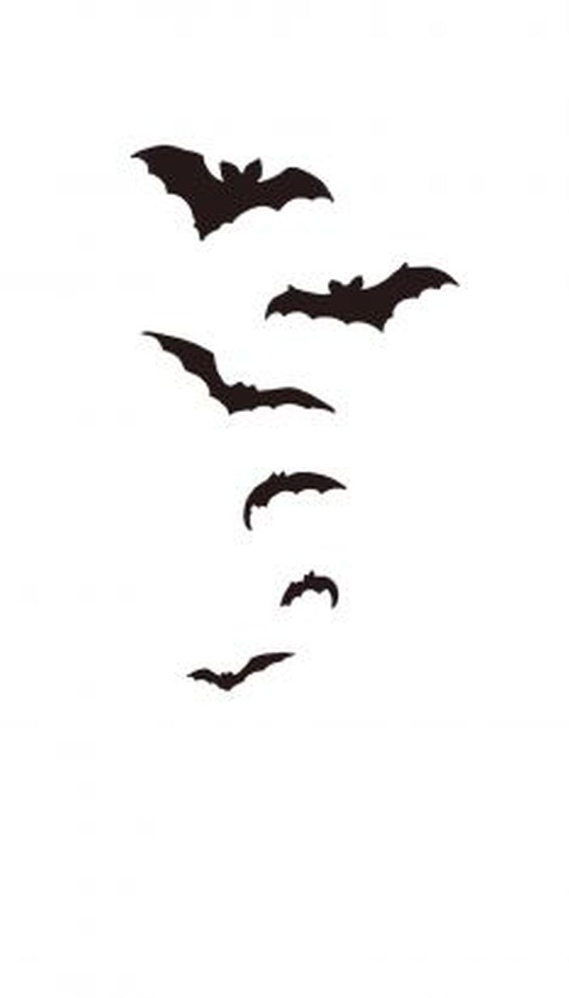 Flying bats tattoo design