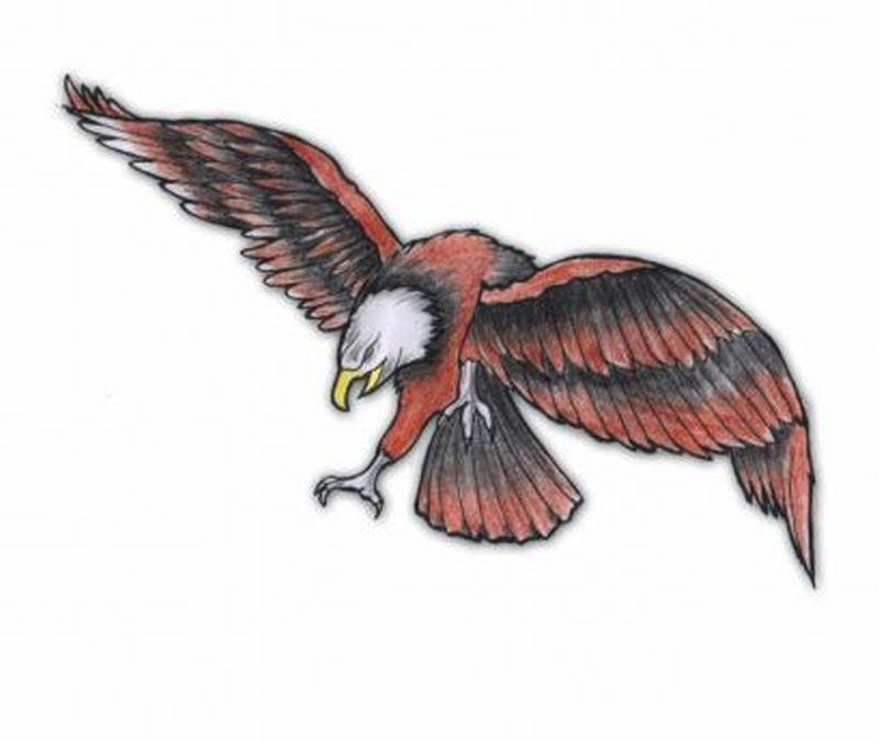 Flying eagle tattoo design 3