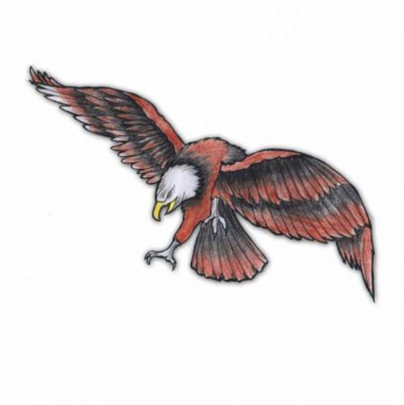 Flying eagle tattoo design 3