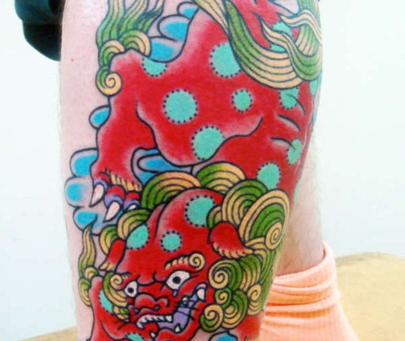 Foo dog or chinese lion tattoo design