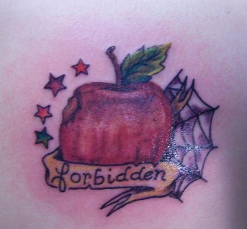 Forbidden apple tattoo