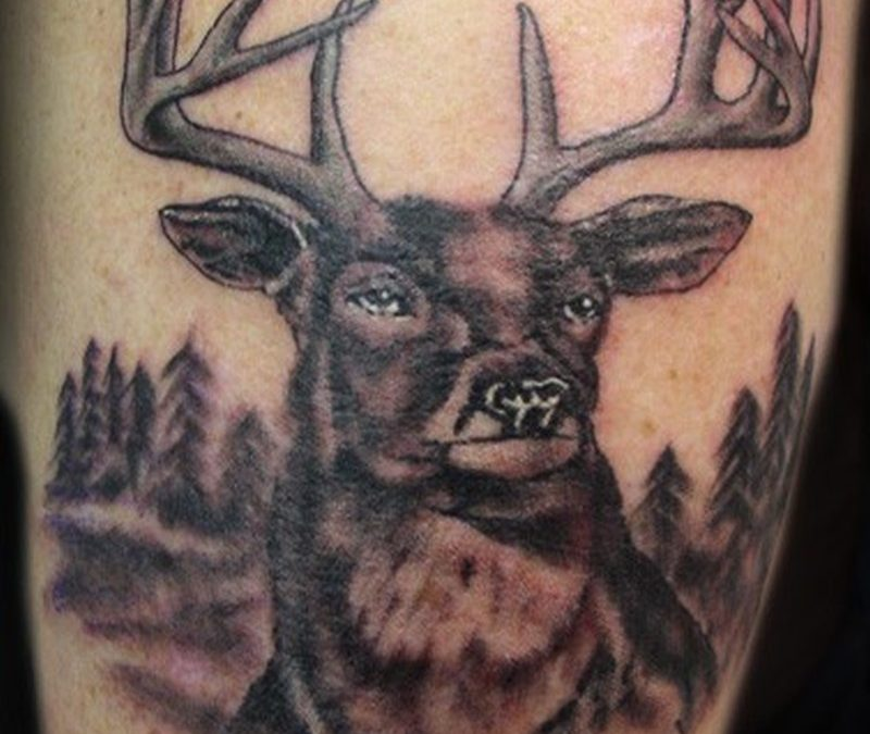 Forest deer tattoo image