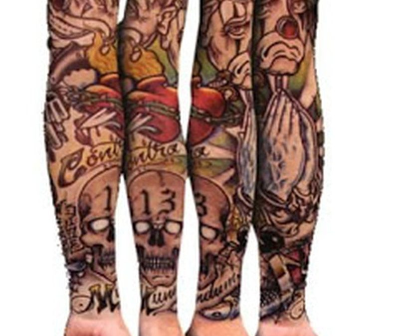 Four gangsta sleeve tattoo designs