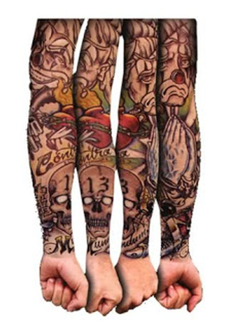 Four gangsta sleeve tattoo designs