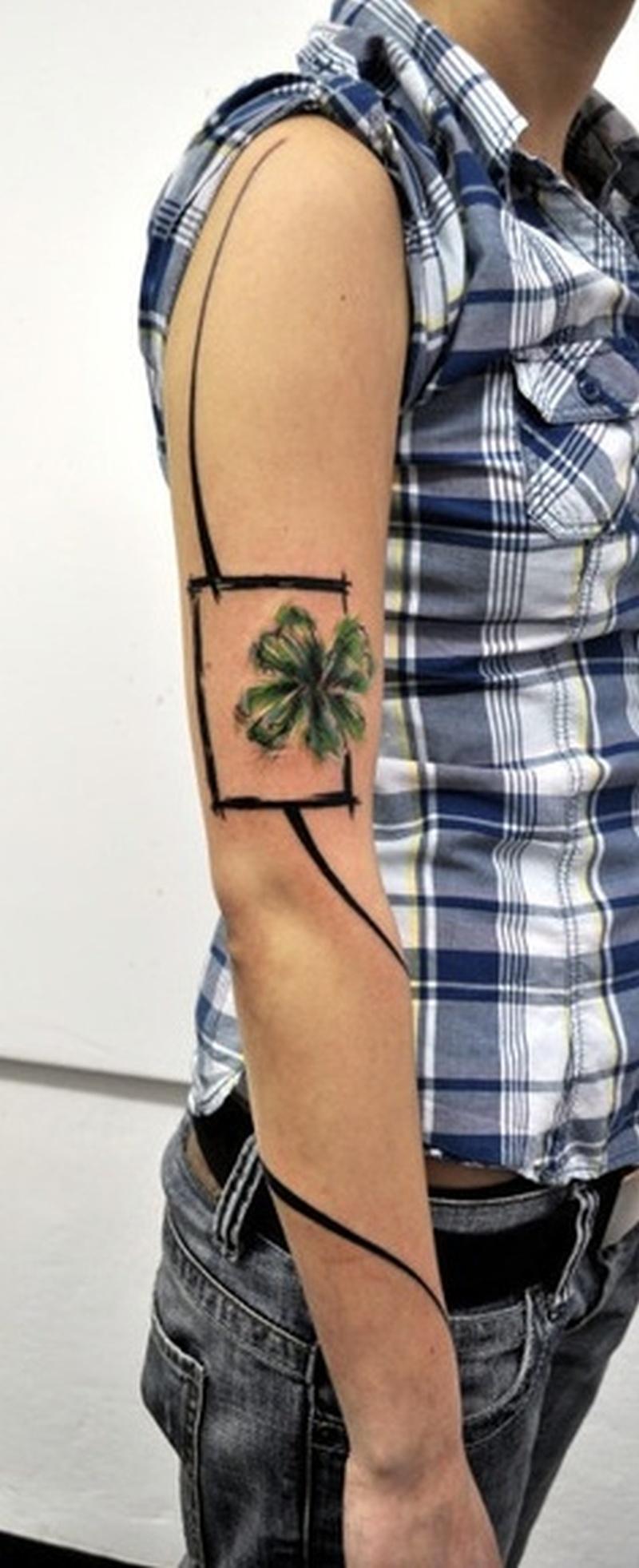 Four Leaf Clover Tattoo For Guys Tattoos Book 65 000