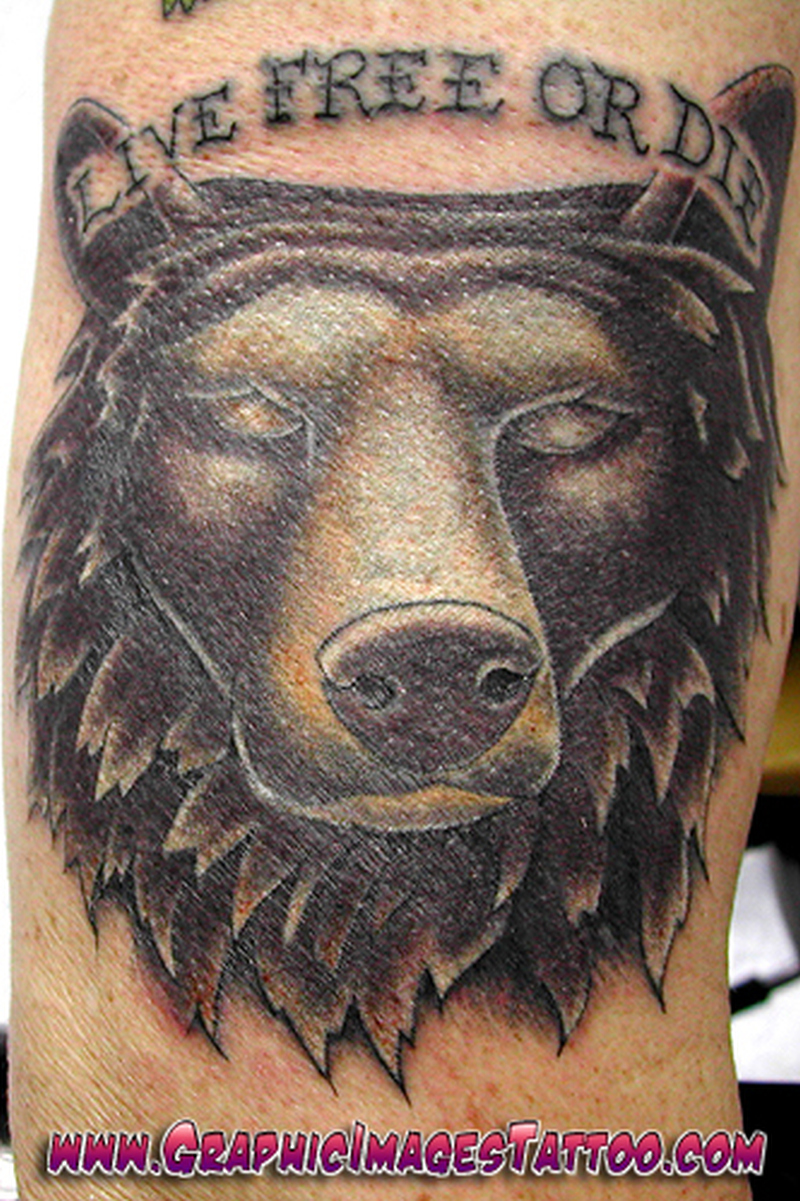 Free bear tattoo