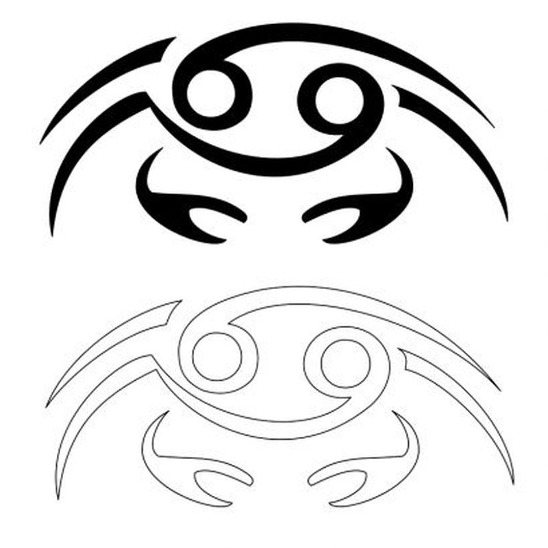 Free cancer tattoo design