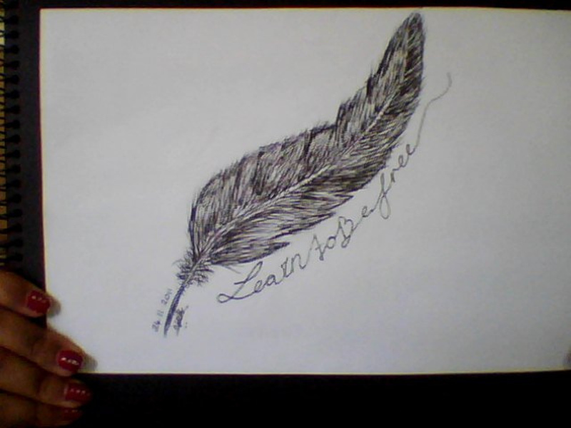 Free feather tattoo design