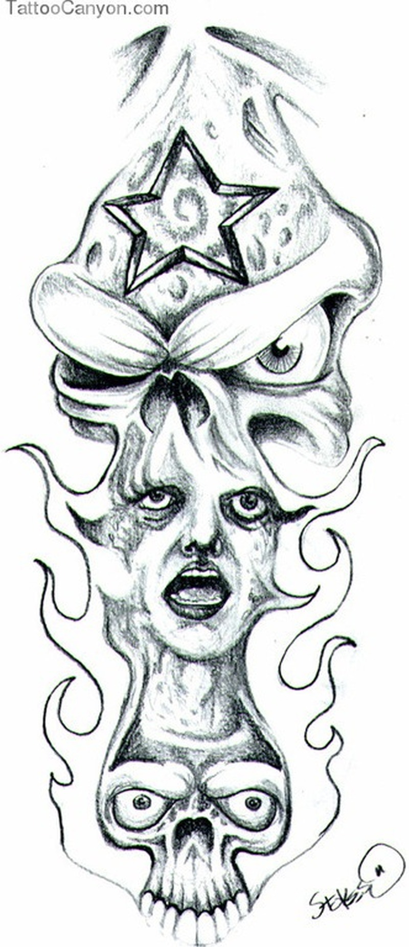 free skull joker tattoo design tattoos book