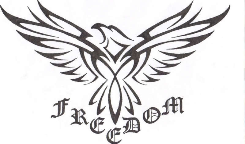 Freedom eagle tattoo sample