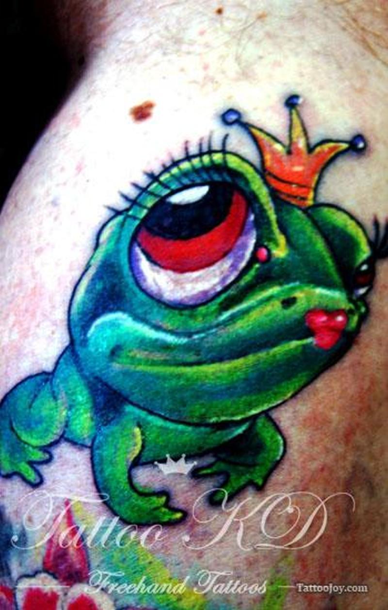 Frog king tattoo design 2