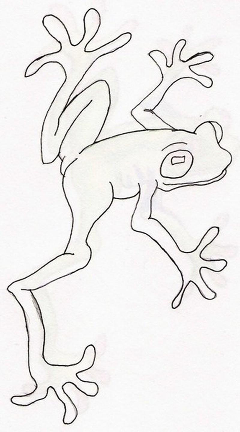 Frog stencil 2 tattoo