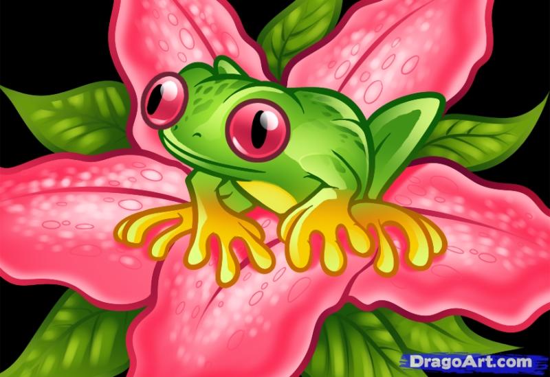 Frog tattoo art