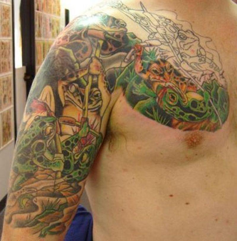 Frog tattoo design on arm