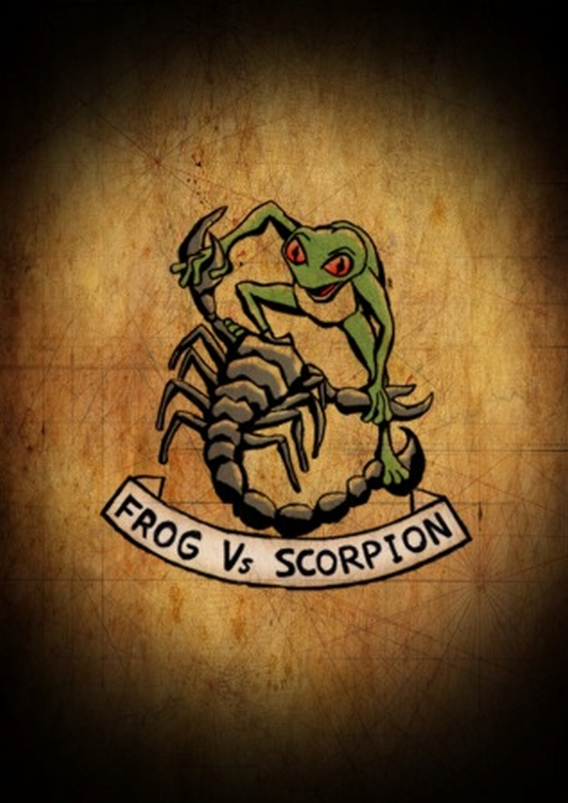 frog vs scorpion color tattoo design tattoos book tattoos designs. Black Bedroom Furniture Sets. Home Design Ideas