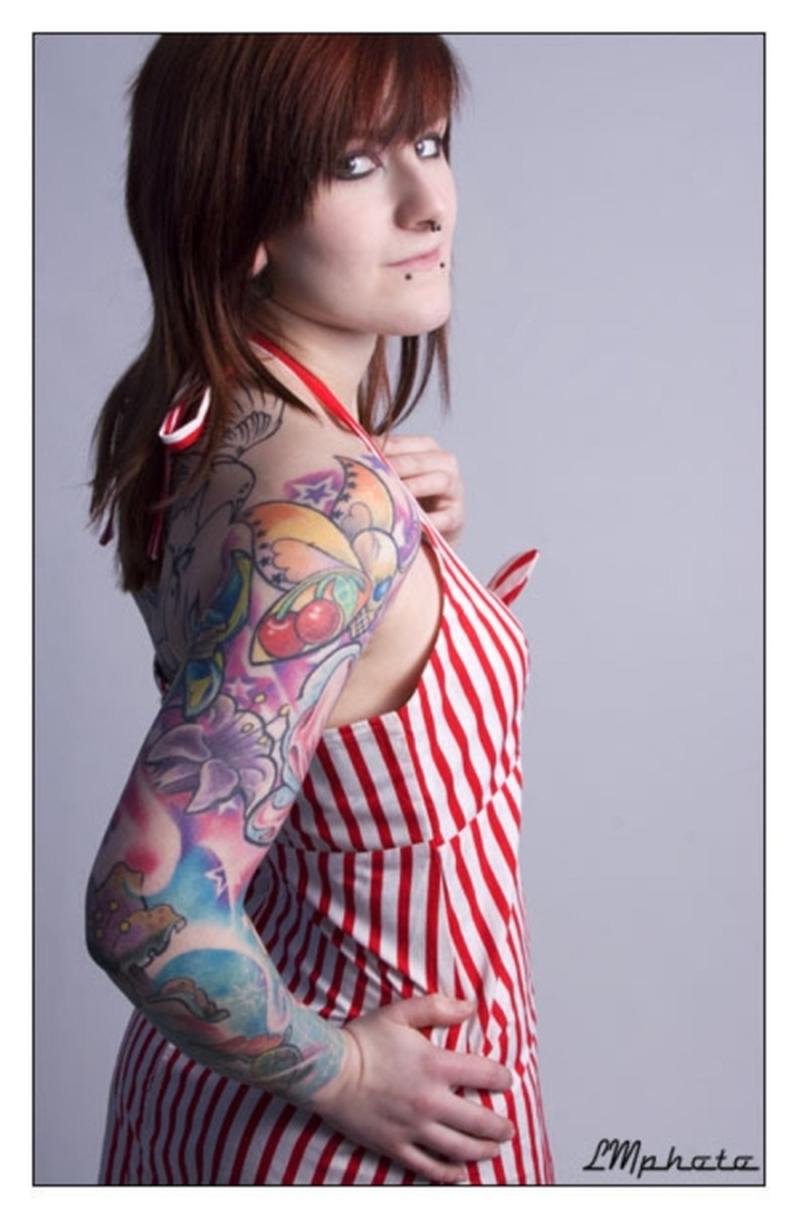 Fruit sleeve tattoo design for girls tattoos book 65 for Tattoo girl book