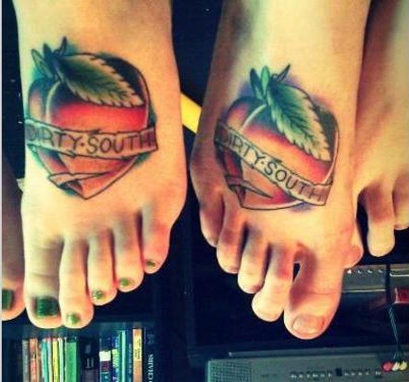 Fruits tattoo on feet
