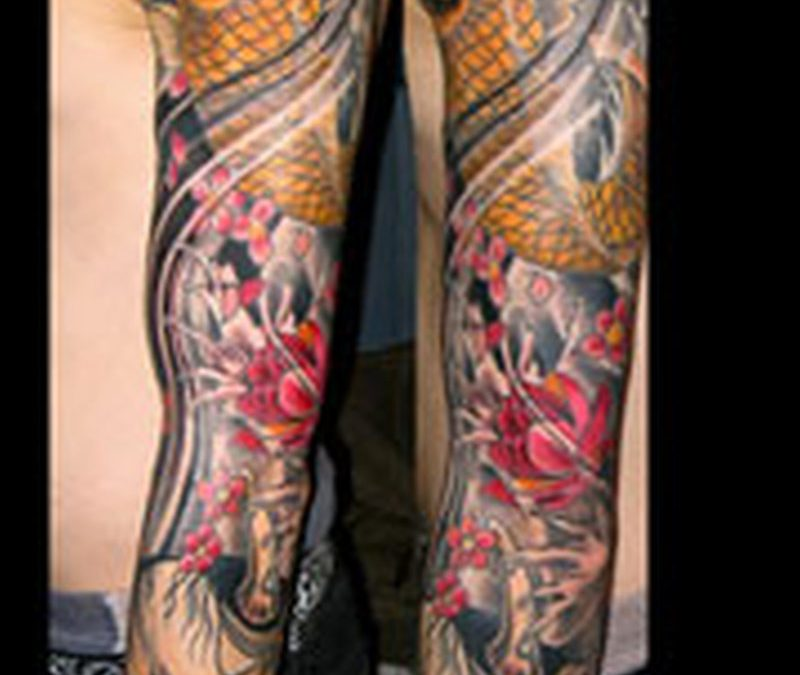 Full arm asian tattoo designs