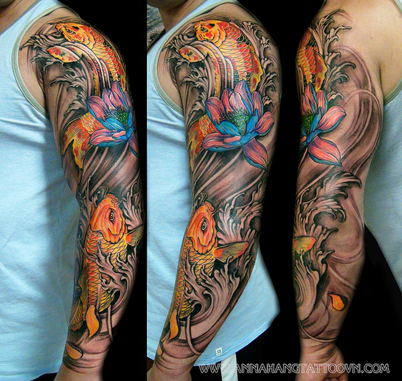 072f82558 Full arm koi fish tattoo designs - Tattoos Book - 65.000 Tattoos Designs  koi tattoo design