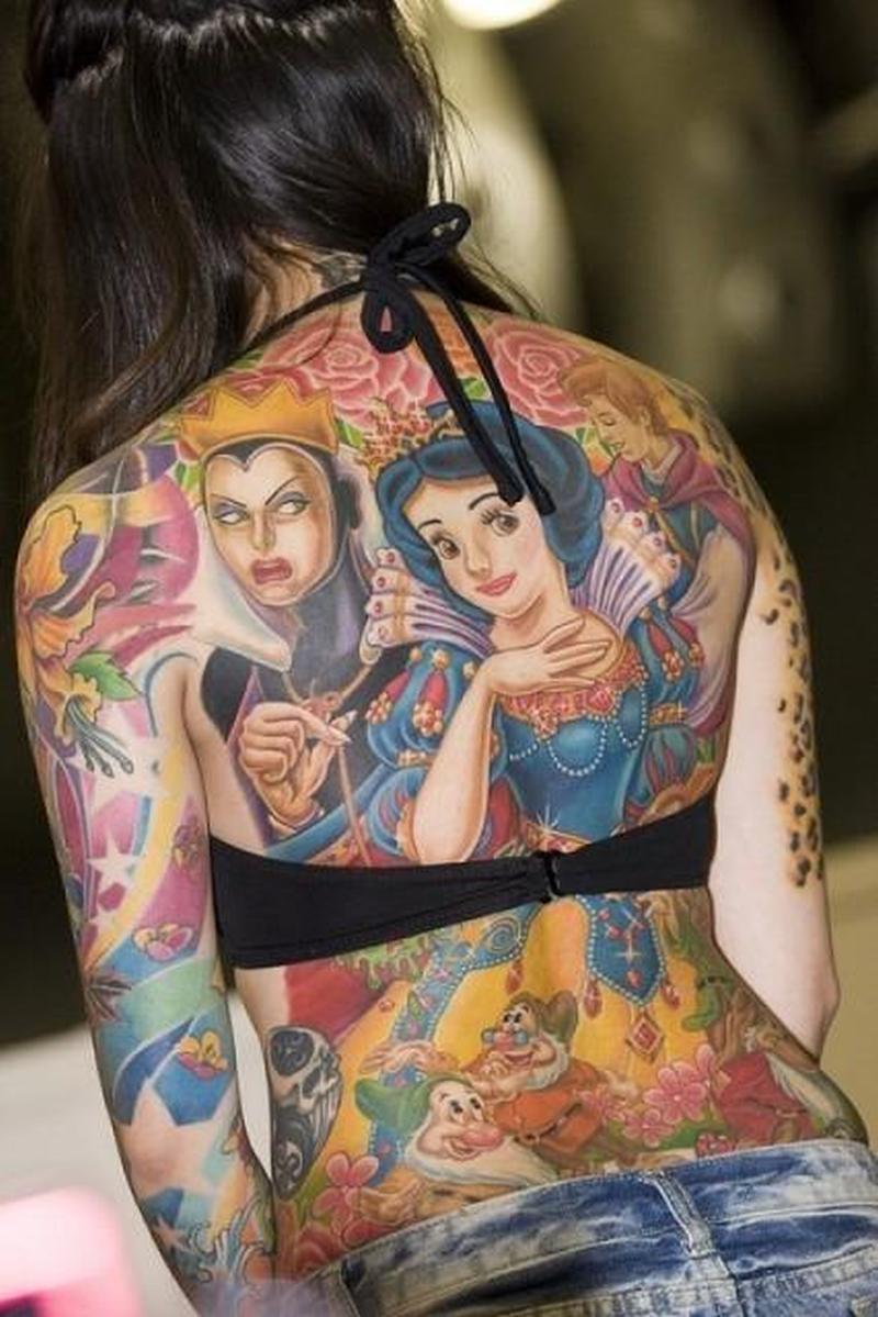 Full body art tattoo design