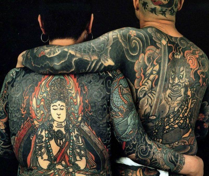 Full body religious asian tattoo