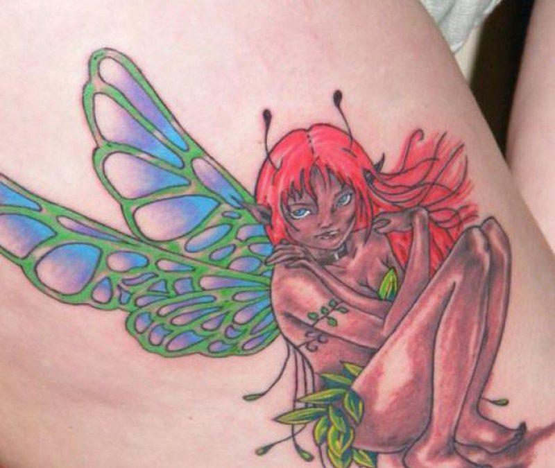 Full color fairy tattoo