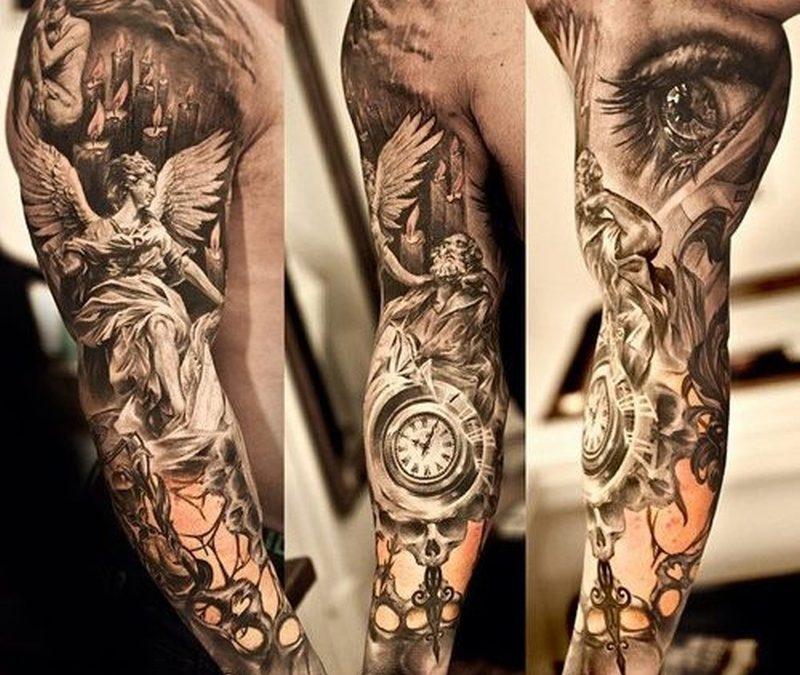 Full sleeve extreme tattoo design