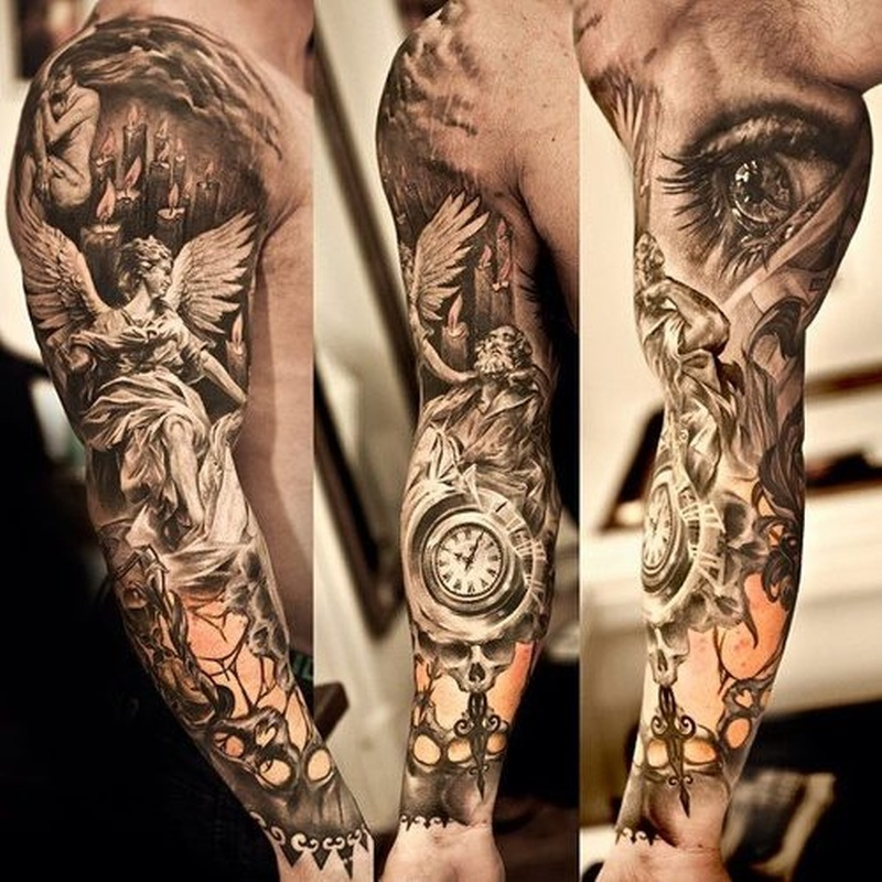 Full sleeve extreme tattoo design