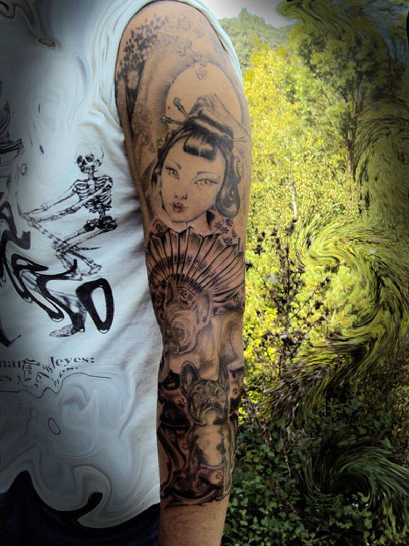 full sleeve geisha tattoo design tattoos book tattoos designs. Black Bedroom Furniture Sets. Home Design Ideas
