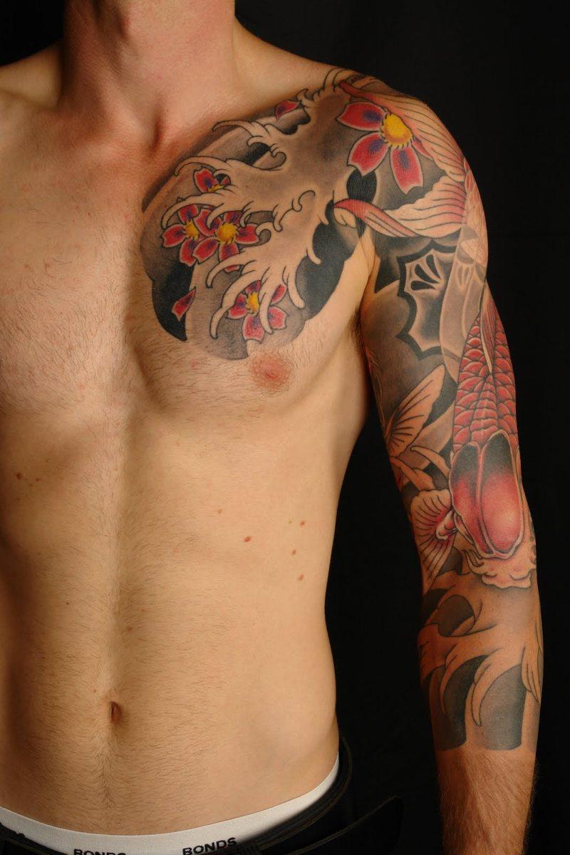 Full sleeve japanese tattoo design for men 2