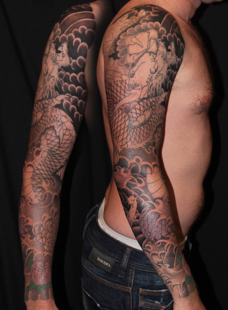 Full Sleeve Japanese Tattoo Design For Men 3 Tattoos Book