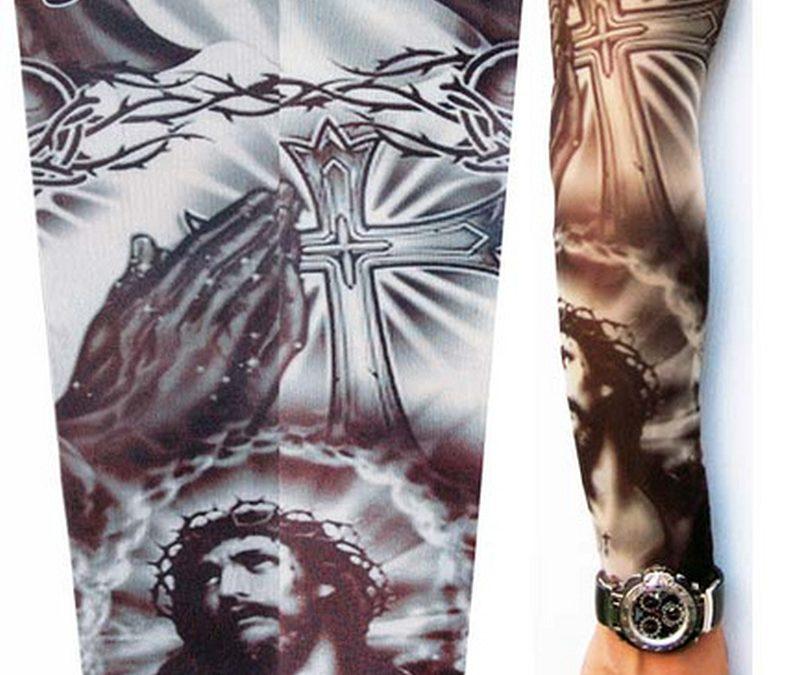 Full sleeve jesus tattoo design