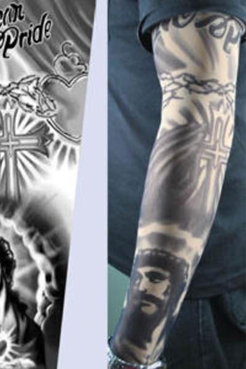 Full sleeve religious christian tattoo design 3