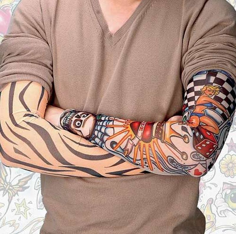 Funky tattoo on sleeve for men